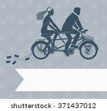 wedding invitation with loving... | Shutterstock . vector #371437012