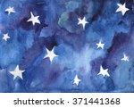 watercolor background of night... | Shutterstock . vector #371441368