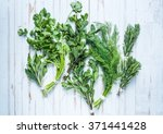 aromatic herbs and spices from... | Shutterstock . vector #371441428