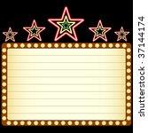 blank movie  theater or casino... | Shutterstock .eps vector #37144174
