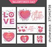 social media post and header... | Shutterstock .eps vector #371441938
