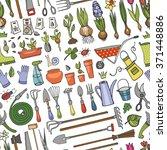 spring garden seamless pattern... | Shutterstock .eps vector #371448886