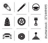 set of isolated icons on a... | Shutterstock .eps vector #371449495