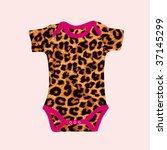 New Born Baby Bodysuit In Vector