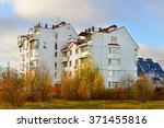 Small photo of MOSCOW,RUSSIA - OCT 29,2015:Mitino District is administrative district and one of 125 raions. Located in outskirts, original village of Mitino merged into city in 1985. There is new low-rise cozy home
