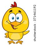 Yellow Chick Cartoon Character...