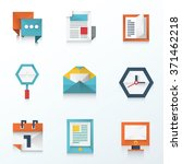 web and mobile icon origami set