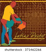 the poster for the latin party | Shutterstock .eps vector #371462266