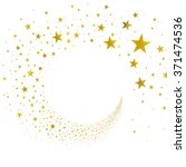 stream gold stars on a white... | Shutterstock .eps vector #371474536