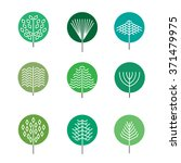 hipster trees silhouettes with... | Shutterstock .eps vector #371479975