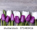 beautiful  fresh tulips on... | Shutterstock . vector #371483416