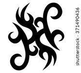tribal tattoo vector design...   Shutterstock .eps vector #371490436