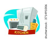 kitchen concept design with... | Shutterstock .eps vector #371491006