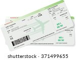 pattern of airline boarding... | Shutterstock .eps vector #371499655