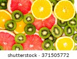 bright background with kiwi... | Shutterstock . vector #371505772