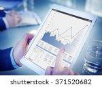 business sales increase revenue ... | Shutterstock . vector #371520682