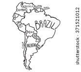 cartoon map of south america | Shutterstock .eps vector #371521012