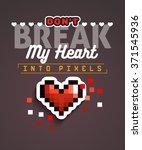 valentines day creative unusual ... | Shutterstock .eps vector #371545936