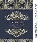 wedding invitation cards ... | Shutterstock .eps vector #371561572