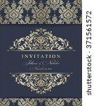 wedding invitation cards ... | Shutterstock .eps vector #371561572