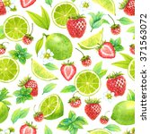 seamless watercolor pattern... | Shutterstock . vector #371563072