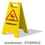 vorsicht two panel plastic... | Shutterstock .eps vector #371569012