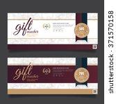 gift voucher premier gold... | Shutterstock .eps vector #371570158