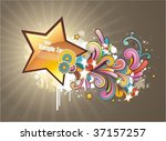 modern colored background with... | Shutterstock .eps vector #37157257