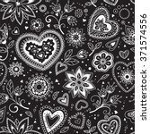 seamless pattern of hearts as... | Shutterstock .eps vector #371574556