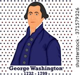 silhouette george washington.... | Shutterstock .eps vector #371579326