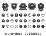 caduceus  icon | Shutterstock .eps vector #371585512