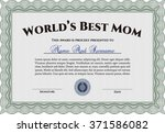 best mom award. with quality... | Shutterstock .eps vector #371586082