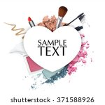 cosmetic promotion  heart frame  | Shutterstock . vector #371588926
