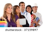 group of people in different... | Shutterstock . vector #37159897