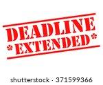 deadline extended red rubber... | Shutterstock . vector #371599366