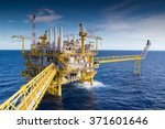 oil and gas processing platform ... | Shutterstock . vector #371601646