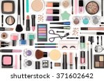 makeup cosmetics  brushes and... | Shutterstock . vector #371602642