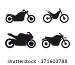 set of isolated icons on a... | Shutterstock .eps vector #371603788