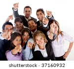 business people pointing at the ... | Shutterstock . vector #37160932