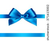 shiny blue satin ribbon on... | Shutterstock .eps vector #371615002