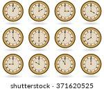 set of antique clocks for... | Shutterstock .eps vector #371620525