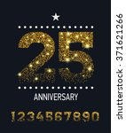 set of vector gold glittered... | Shutterstock .eps vector #371621266