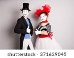 Portrait Of A Two Happy Mimes...