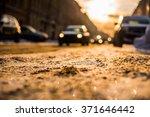bright winter sun in a big city ...   Shutterstock . vector #371646442