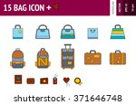 15 icons of bags and...
