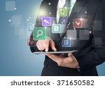 media. | Shutterstock . vector #371650582
