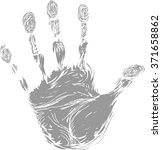 hand print | Shutterstock . vector #371658862