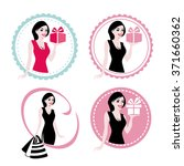 a set of beautiful woman with... | Shutterstock . vector #371660362