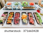 catering banquet table | Shutterstock . vector #371663428