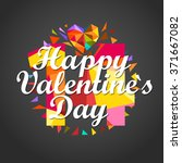 happy valentines day. vector... | Shutterstock .eps vector #371667082